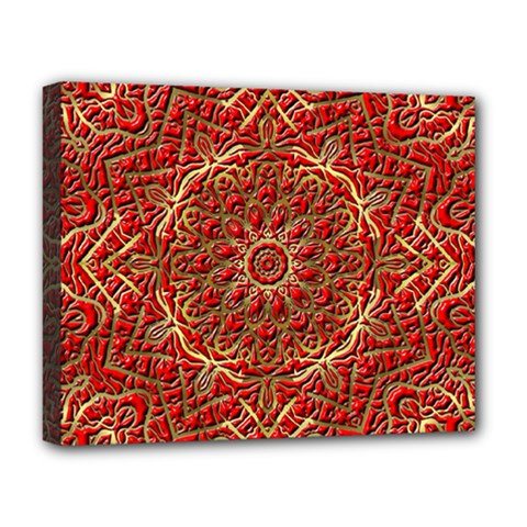 Red Tile Background Image Pattern Deluxe Canvas 20  x 16