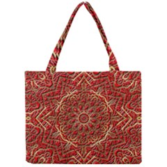 Red Tile Background Image Pattern Mini Tote Bag