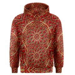 Red Tile Background Image Pattern Men s Pullover Hoodie