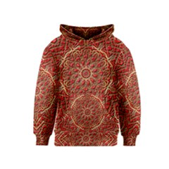 Red Tile Background Image Pattern Kids  Pullover Hoodie