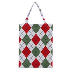 Red Green White Argyle Navy Classic Tote Bag