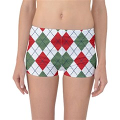 Red Green White Argyle Navy Reversible Bikini Bottoms