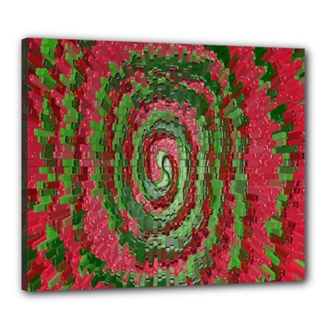 Red Green Swirl Twirl Colorful Canvas 24  X 20
