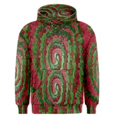 Red Green Swirl Twirl Colorful Men s Pullover Hoodie