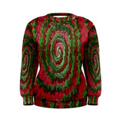 Red Green Swirl Twirl Colorful Women s Sweatshirt