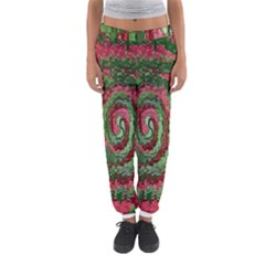 Red Green Swirl Twirl Colorful Women s Jogger Sweatpants