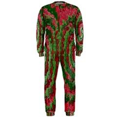 Red Green Swirl Twirl Colorful OnePiece Jumpsuit (Men)