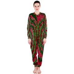 Red Green Swirl Twirl Colorful OnePiece Jumpsuit (Ladies)