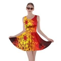 Red Silhouette Star Skater Dress