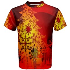 Red Silhouette Star Men s Cotton Tee