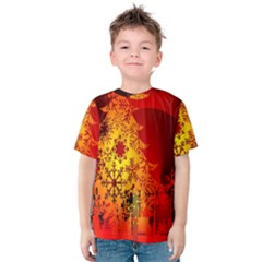 Red Silhouette Star Kids  Cotton Tee