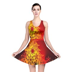 Red Silhouette Star Reversible Skater Dress