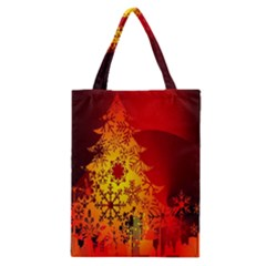 Red Silhouette Star Classic Tote Bag