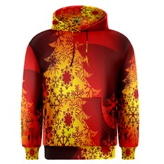 Red Silhouette Star Men s Pullover Hoodie