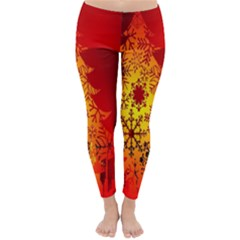 Red Silhouette Star Classic Winter Leggings