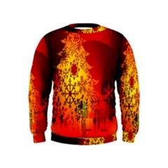Red Silhouette Star Kids  Sweatshirt