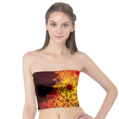 Red Silhouette Star Tube Top