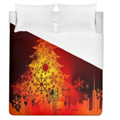 Red Silhouette Star Duvet Cover (queen Size)
