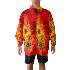 Red Silhouette Star Wind Breaker (Kids)