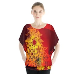 Red Silhouette Star Blouse
