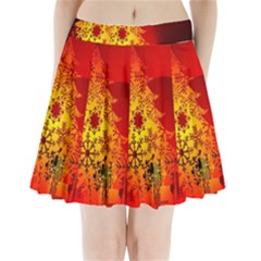 Red Silhouette Star Pleated Mini Skirt