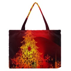 Red Silhouette Star Medium Zipper Tote Bag
