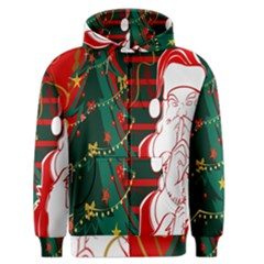 Santa Clause Xmas Men s Zipper Hoodie