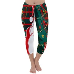 Santa Clause Xmas Capri Winter Leggings
