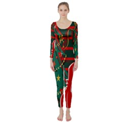 Santa Clause Xmas Long Sleeve Catsuit