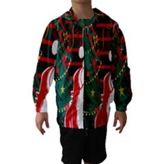 Santa Clause Xmas Hooded Wind Breaker (Kids)