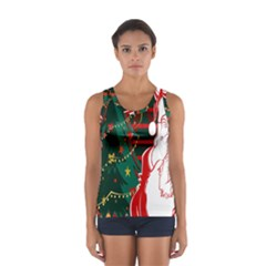 Santa Clause Xmas Women s Sport Tank Top