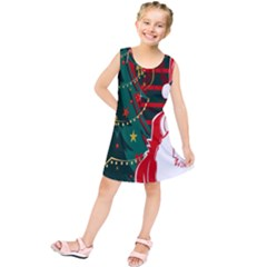 Santa Clause Xmas Kids  Tunic Dress