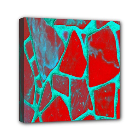 Red Marble Background Mini Canvas 6  x 6