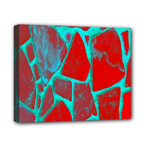 Red Marble Background Canvas 10  x 8