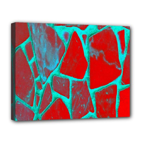 Red Marble Background Canvas 14  x 11