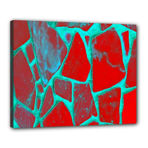 Red Marble Background Canvas 20  x 16