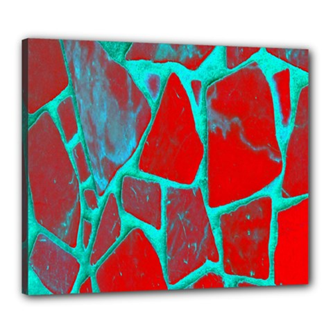 Red Marble Background Canvas 24  x 20