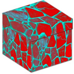 Red Marble Background Storage Stool 12