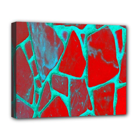 Red Marble Background Deluxe Canvas 20  X 16