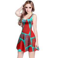 Red Marble Background Reversible Sleeveless Dress