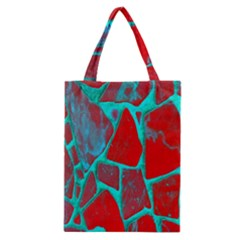 Red Marble Background Classic Tote Bag