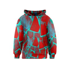 Red Marble Background Kids  Pullover Hoodie