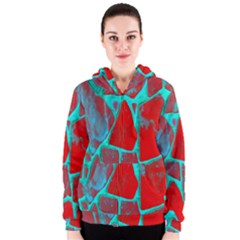 Red Marble Background Women s Zipper Hoodie