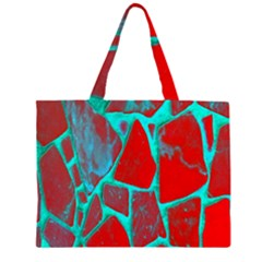 Red Marble Background Zipper Large Tote Bag