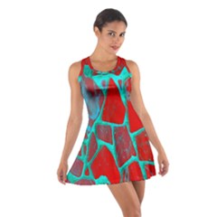 Red Marble Background Cotton Racerback Dress