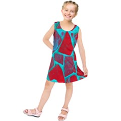 Red Marble Background Kids  Tunic Dress