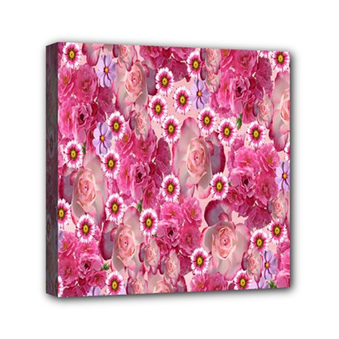 Roses Flowers Rose Blooms Nature Mini Canvas 6  x 6
