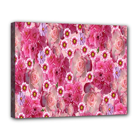 Roses Flowers Rose Blooms Nature Canvas 14  X 11