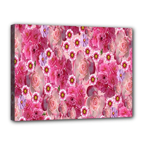 Roses Flowers Rose Blooms Nature Canvas 16  x 12