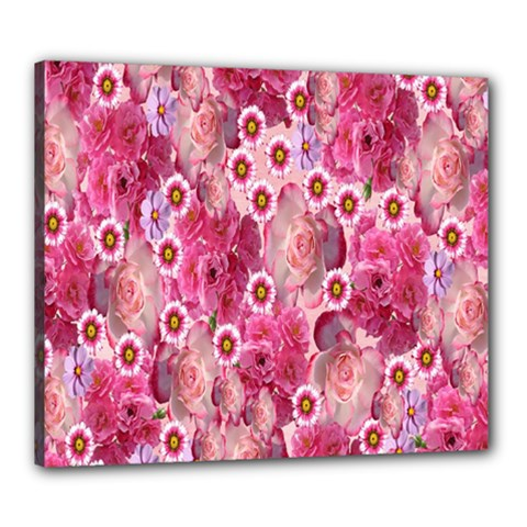 Roses Flowers Rose Blooms Nature Canvas 24  X 20